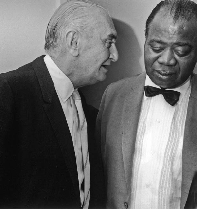 Joe Glaser and Louis Armstrong