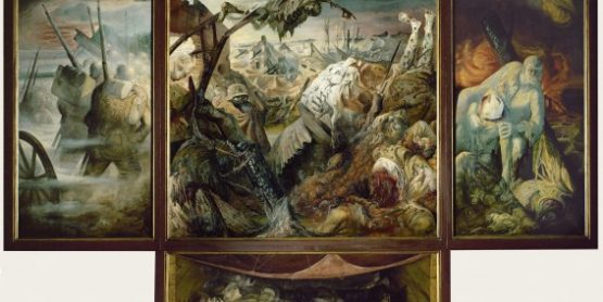 oil painting depicting World War I