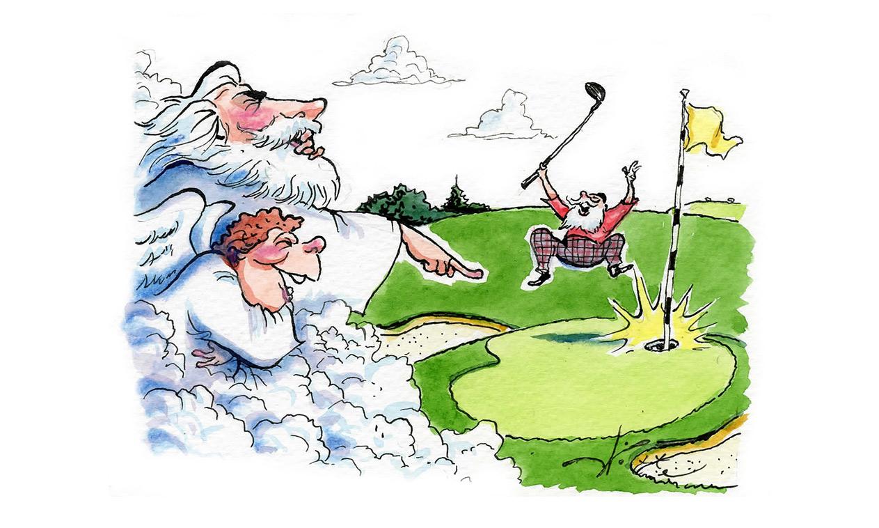 The Pious Golfer Joke
