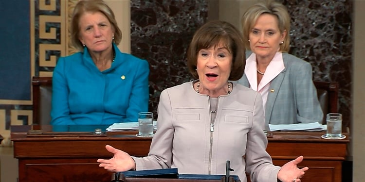 Susan Collins Gave Americans the Stern Scolding They Richly Deserved