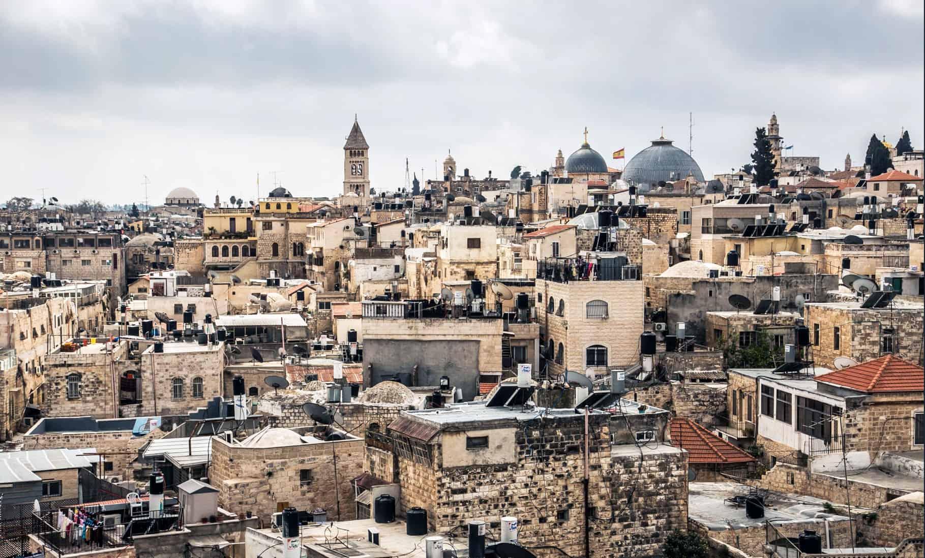 Jerusalem city skyline in the daytime