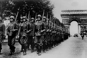 fascist troops marching