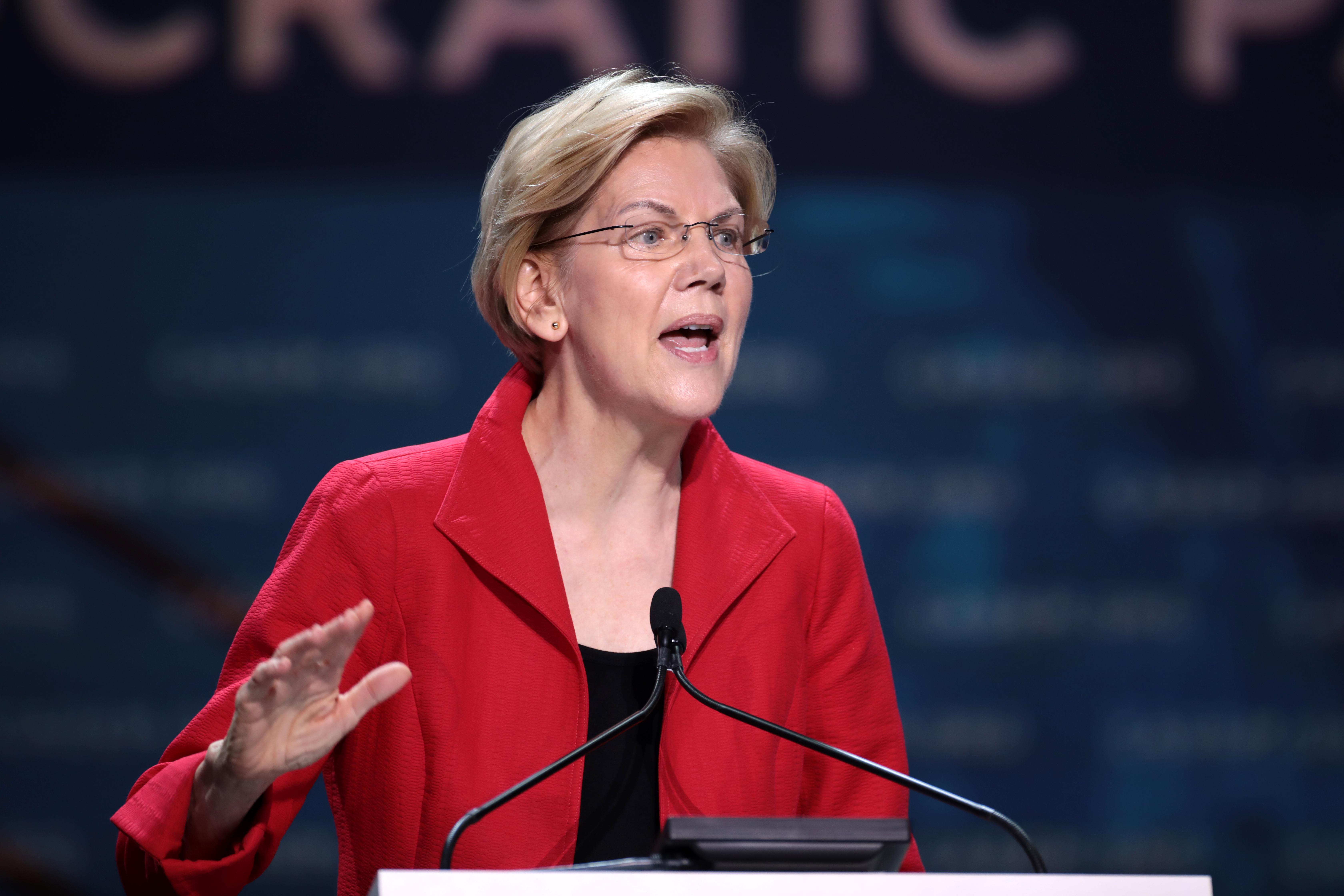Elizabeth Warren's Amiable Panting Dogs