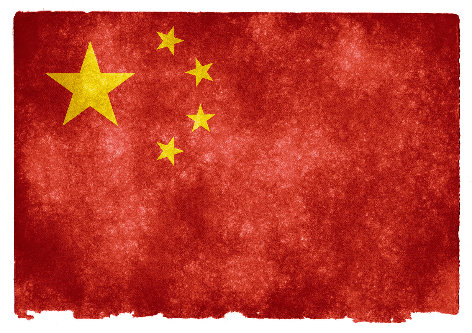 tattered Chinese flag