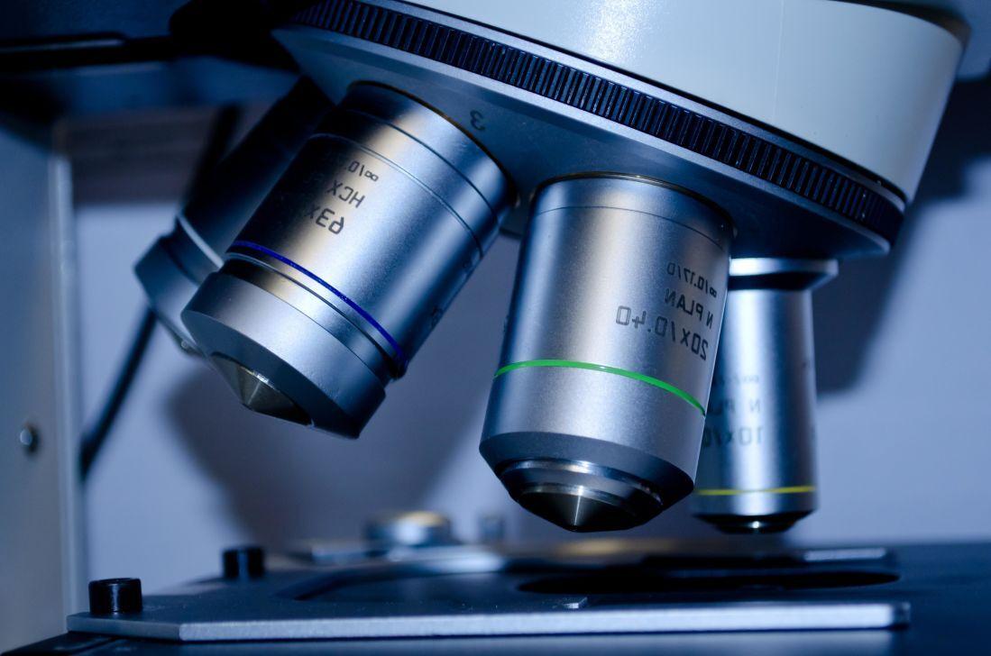 high tech microscope symbolizing modern science