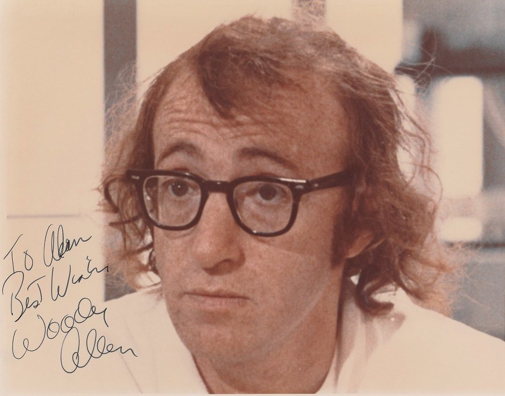younger woody allen autographed photo
