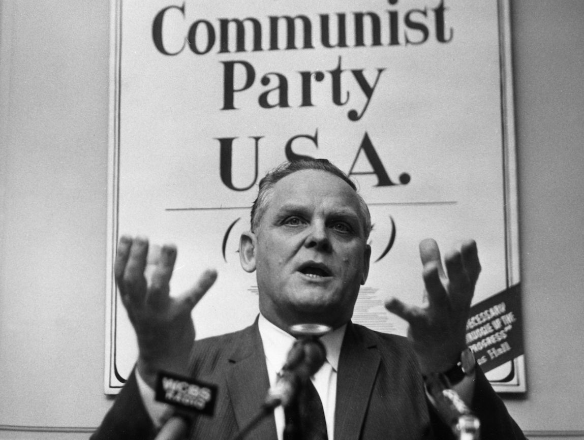 Gus Hall, American Communist Party leader