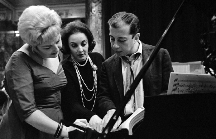Nancy Andrews, with Carolyn Leigh and Cy Coleman